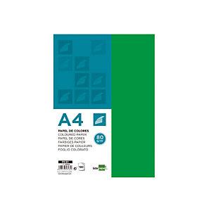 liderpapel Papel de Colores A4 80 g/m2 100h Verde Intenso