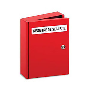 Lifebox Coffre pour registre de sécurité - Métal rouge