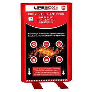 Lifebox Couverture anti-feu 120 x 120 cm