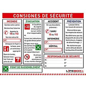 Lifebox Panneau consignes de sécurité