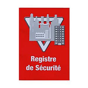 Lifebox Registre de sécurité, A4 - Rouge