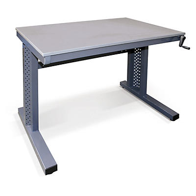 Light duty height adjustable workbenches