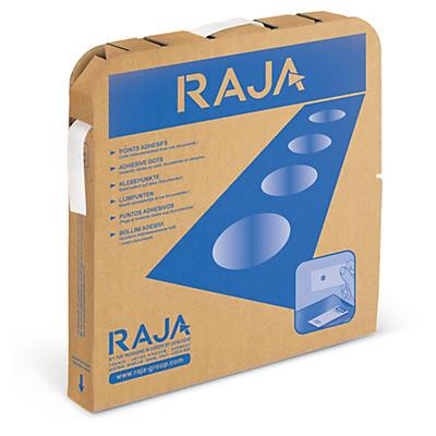 Point adhésif en boîte distributrice RAJA##Lijmdots in dispenserdoos