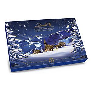 Lindt Coffret Assortiment chocolats Lindor 469g - Boîte cadeau Paysage de Noël