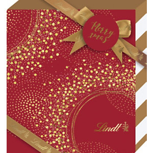 Lindt Coffret Noël rouge Assortiment chocolats - 600 g - Coffret cadeau