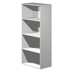 Linea Ambra/Linea Concept  Mobile alto a giorno, cm 80 x 44 x 180 h, Grigio metallizzato