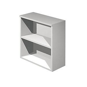 Linea Ambra/Linea Concept  Mobile basso a giorno, cm 80 x 44 x 72 h, Grigio metallizzato