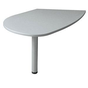 Linea Avantis Penisola 180 gradi, 108,5  x 118 cm, Grigio alluminio