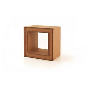 Linea in cartone EcoDesign Espositore Platano, bifacciale a singolo vano, cm 50 x 35 x 50 h, in cartone, Avana