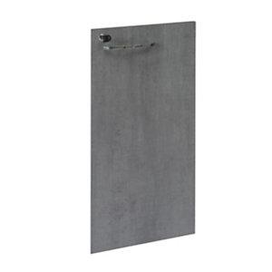 Linea Moon, Anta battente per mobile a giorno basso h.85 cm, Grigio cemento (set 2 pezzi)