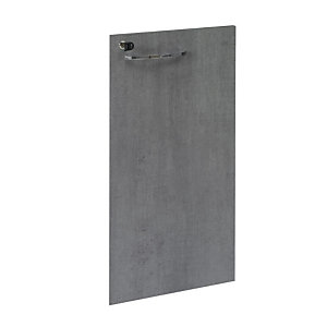 Linea Moon, Anta battente per mobile a giorno medio h.125 cm, Grigio cemento (set 2 pezzi)