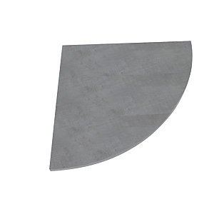 Linea Moon, Raccordo angolare 90°, 80 x 80 cm, Grigio cemento