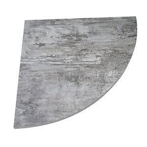 Linea Moon, Raccordo angolare 90°, 80 x 80 cm, Legno ossidato