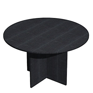 Línea Pronto Mesa de reuniones circular, 120 (Ø) cm, negro / patas negras