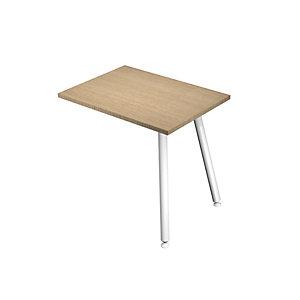 Linea Wood Metal, Allungo laterale destro/sinistro per scrivania, 60 x 80 x 74,4 cm, Gamba metallica, Rovere