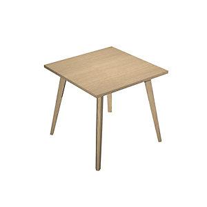 Linea Wood Tavolo alto 80 x 80 x 105 cm, Gamba in legno massello, Piano rovere