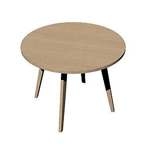 Linea Wood, Tavolo riunioni rotondo, Ø 100 x 74,4 cm Gamba in legno, Rovere