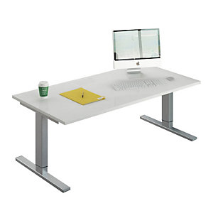 Linea Work Ergo-System Scrivania elettrica regolabile in altezza, 160 x 80 x 70-120 cm, Bianco