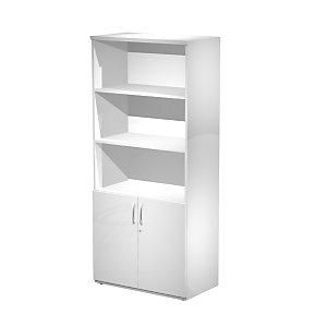 Linea Work Mobile alto con ante basse, 80 x 46 x 181,8 cm, Bianco