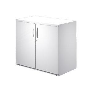 Linea Work Mobile basso con ante battenti, 80 x 45 x 73 cm, Bianco