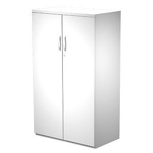 Linea Work Mobile medio con ante battenti, 80 x 45 x 136 cm, Bianco