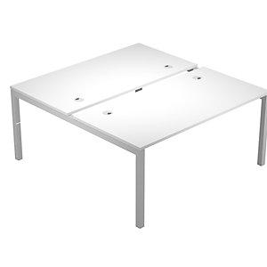 Linea Work Space 2 Postazioni contrapposte cm 180 x 168 x 73 h Bianco