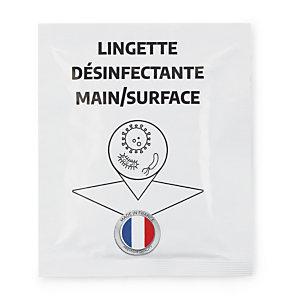 Lingette rince-doigts désinfectante