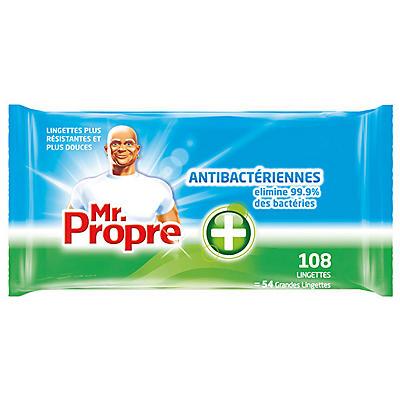 Lingettes antibactériennes Mr PROPRE