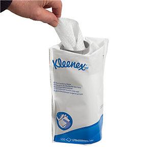 Lingettes désinfectantes mains Kleenex, 6 paquets de recharges, 100 lingettes