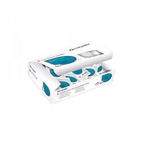 Lingettes désinfectantes mains Lucart, boîte de 150 lingettes individuelles