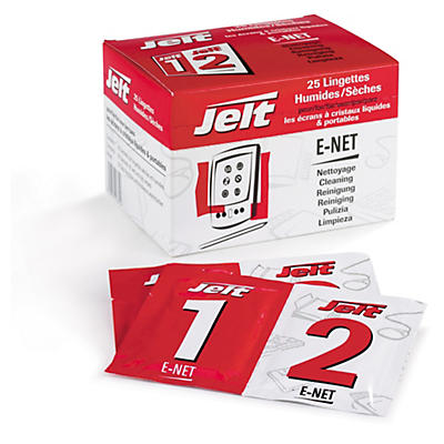 Lingettes pour écrans E-Net JELT