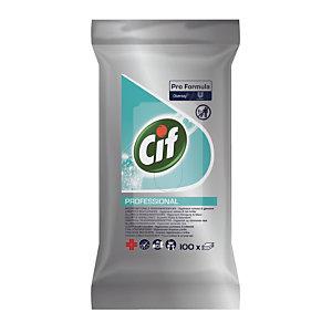 Lingettes multi-usages HACCP Cif Pro Formula, étui de 100 lingettes