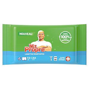 Lingettes nettoyantes et désinfectantes surfaces Mr. Propre antibactériennes, étui de 144 lingettes classiques ou 72 lingettes extra-larges