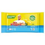 Lingettes nettoyantes surfaces Mr. Propre Citron, étui de 64 lingettes classiques ou 32 lingettes extra-larges