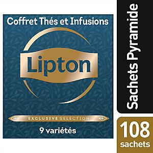Lipton Exclusive Selection Coffret Thés et Infusions - 108 sachets pyramide