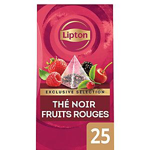 Lipton Exclusive Selection Thé Noir Fruits Rouges - 25 sachets pyramide