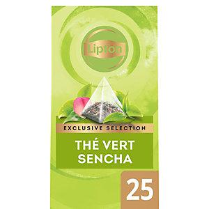 Lipton Exclusive Selection Thé vert Sencha 25 sachets pyramides