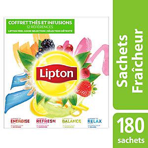 Lipton Feel Good Selection Coffret Thés et Infusions - 180 sachets fraîcheur