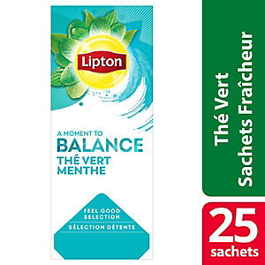 Lipton Feel Good Selection Thé Vert Menthe - 25 sachets fraîcheur