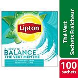 Lipton Thé vert à la Menthe - 100 sachets fraîcheur