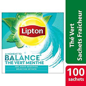 Lipton Thé vert, menthe, sachet, 1,5g