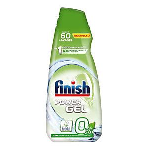 Liquide de lavage lave vaisselle cycle long écologique Finish Power Gel 0%, 900 ml