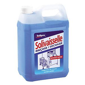 Liquide de rinçage lave-vaisselle cycle court  Solivaisselle de Solipro 5 L