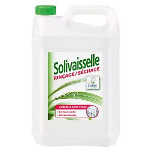 Liquide de rinçage et séchage lave vaisselle cycle court écologique Solivaisselle de Solipro 5 L