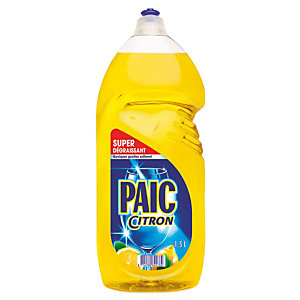 Liquide vaisselle main concentré Paic citron, flacon de 1,5 L