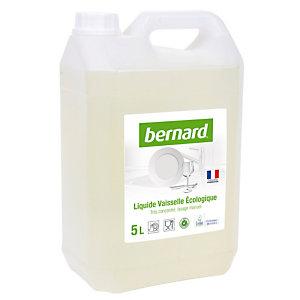 Liquide vaisselle main écologique professionnel Bernard, bidon de 5 L.