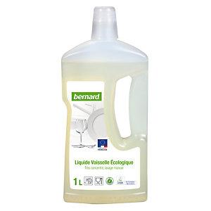 Liquide vaisselle main écologique professionnel Bernard, flacon de 1 L.