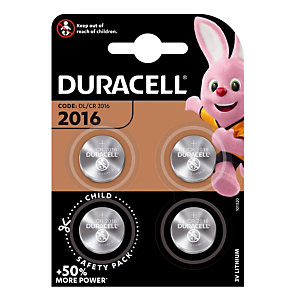 Lithium knoopcelbatterijen DL / CR 2016, set van 4 batterijen