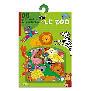 LITO DIFFUSION Boîte de 80 gommettes le zoo