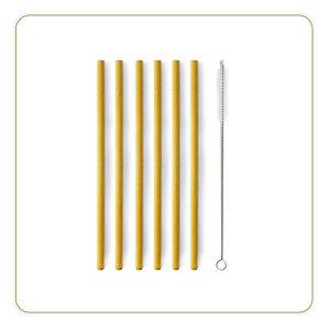 Little Blance Pailles en bambou réutilisable - Lot de 6